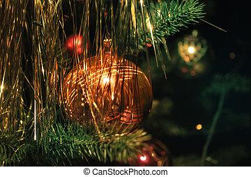 árbol, decoraciones de navidad