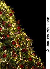 árbol, diagonal, navidad