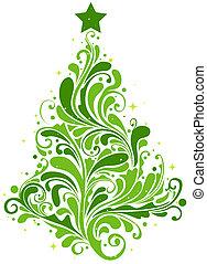 árbol, diseño, navidad