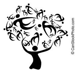 árbol, familia