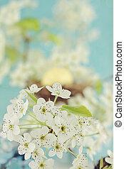 árbol, flores