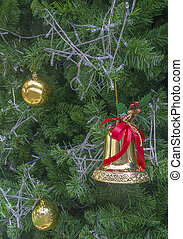 árbol, fondos, navidad