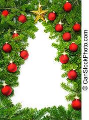 árbol, frontera, navidad, creativo