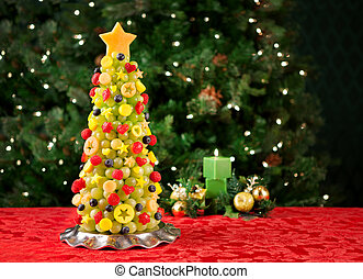 árbol frutal, navidad