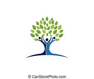 árbol genealógico, icono, logotipo, diseño