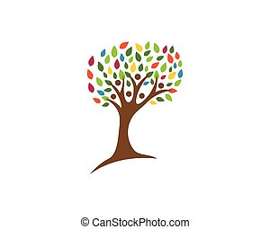árbol genealógico, logotipo