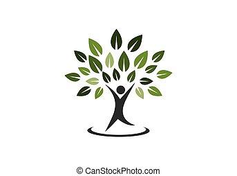 árbol genealógico, símbolo, icono, logotipo, diseño