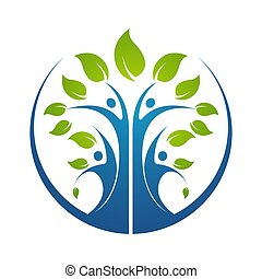 árbol genealógico, símbolo, icono, logotipo, diseño,...