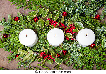 Centro de mesa navidad encendido azul conjunto ramas for Ver fotos de arboles de hoja perenne