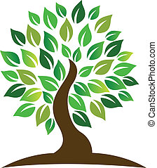 árbol, logotipo