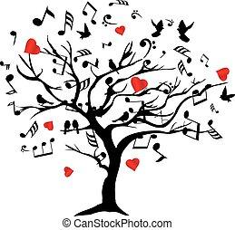 árbol, música