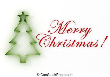 ¡!, árbol, navidad, alegre, 3d