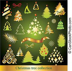árbol, navidad, colección