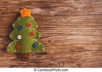 árbol, navidad, Plano de fondo