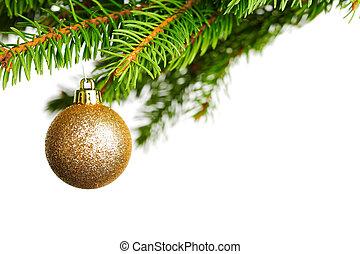árbol, navidad, rama