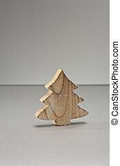 árbol, ornamento, navidad