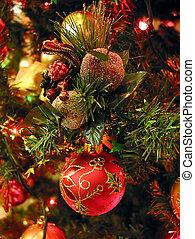 árbol, ornamentos de navidad