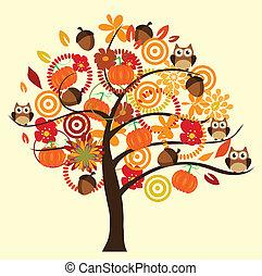 árbol, otoño