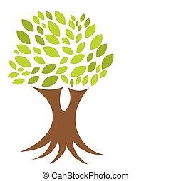 árbol, raíces