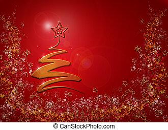 árbol, resumen, plano de fondo, moderno, navidad
