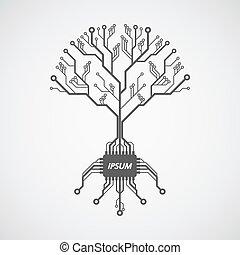 árbol, tarjeta de circuito impreso