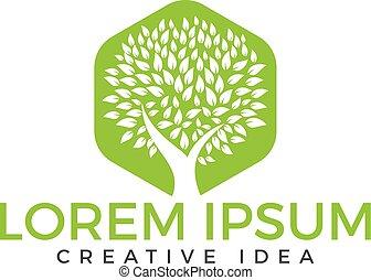árbol verde, logotipo, design., salud, y, naturaleza, logo.