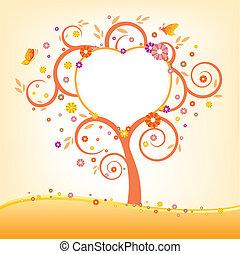 árbol, y, cartelera
