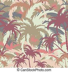 árboles de palma, plano de fondo