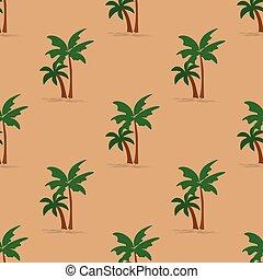 árboles de palma, seamless, patrón