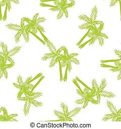 árboles de palma, seamless, vector, pattern.