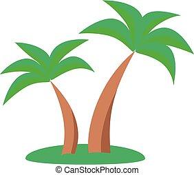 árboles de palma, vector, ilustración