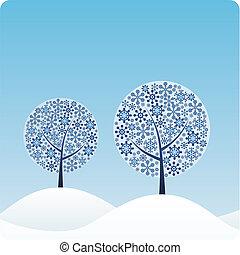 árboles invierno