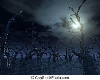 árboles muertos