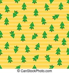 árboles, navidad, plano de fondo, seamless