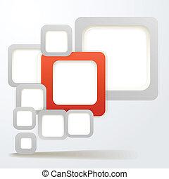 área, abstratos, conteúdo, caixas, fundo, em branco, ...