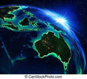 área, australia, tierra
