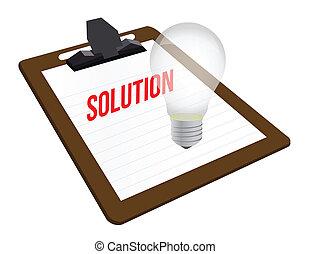 área de transferência, solução, ilustração