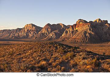 área, luz, nacional, conservação, rocha, alvorada, nevada, ...