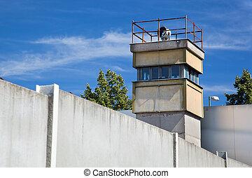área, pared, Berlín, interior, atalaya, monumento...
