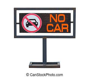 área, señal, coches, permitido, ningún estacionamiento, no