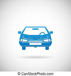 árnykép, autó, jelkép, ábra, vektor, tervezés, sablon, autó, ikon