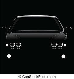 árnykép, autók