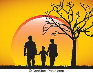 árnykép, család