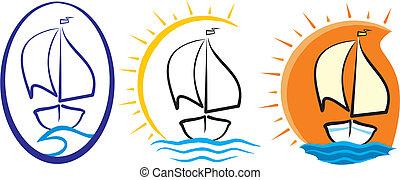 árnykép, -, jacht, tenger