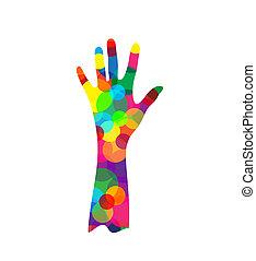 árnykép, kéz