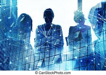 árnykép, közül, businessperson, alatt, hivatal, noha,...