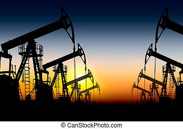 árnykép, olaj pumpa