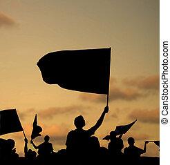 árnykép, protestors