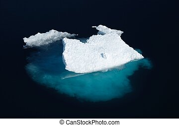 ártico, (canadian, sea), témpano, nunavut, hielo