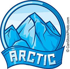 ártico, desenho, (arctic, label)